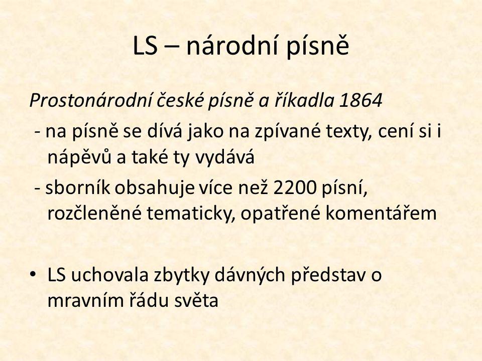 LS – národní písně Prostonárodní české písně a říkadla 1864