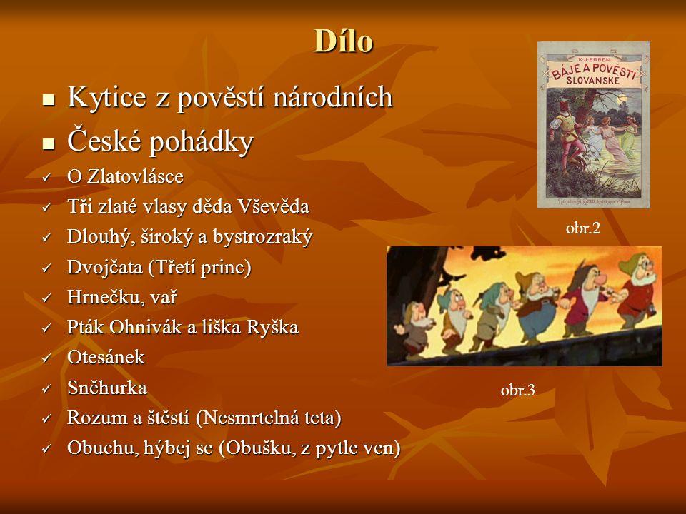 Dílo Kytice z pověstí národních České pohádky O Zlatovlásce