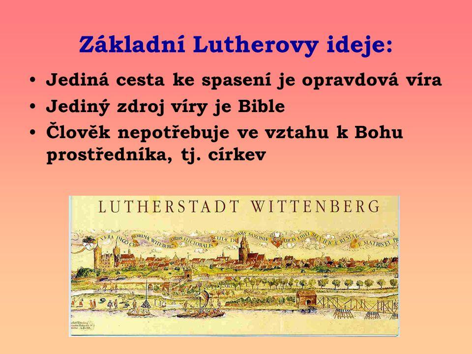 Základní Lutherovy ideje:
