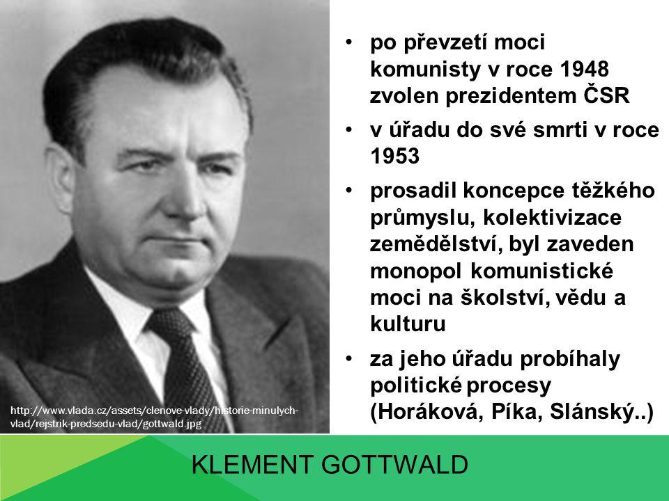 po převzetí moci komunisty v roce 1948 zvolen prezidentem ČSR