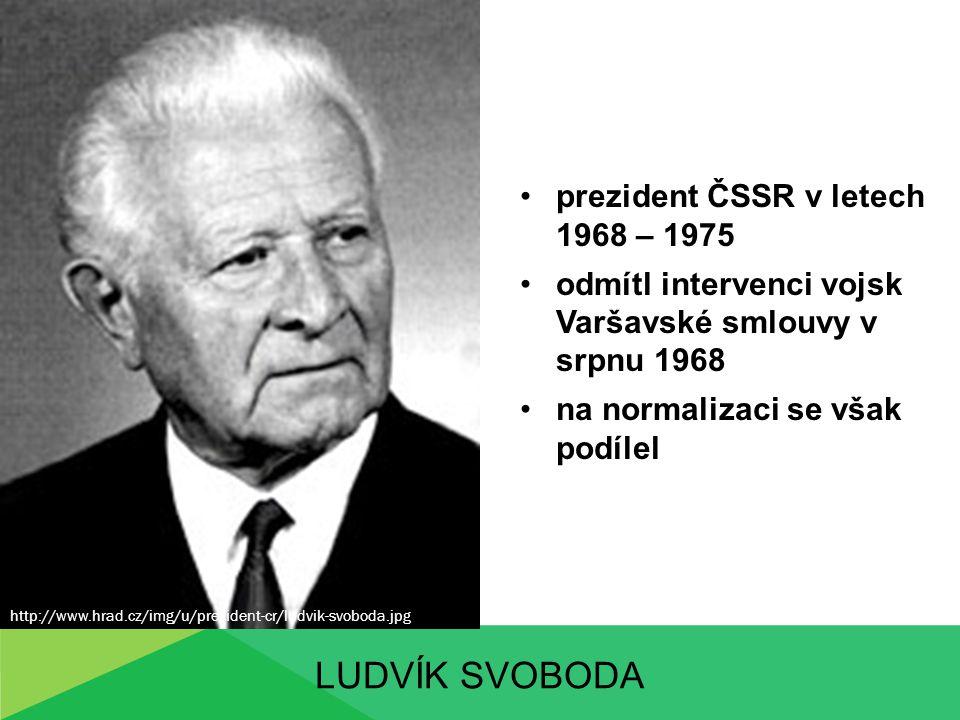 Ludvík svoboda prezident ČSSR v letech 1968 – 1975