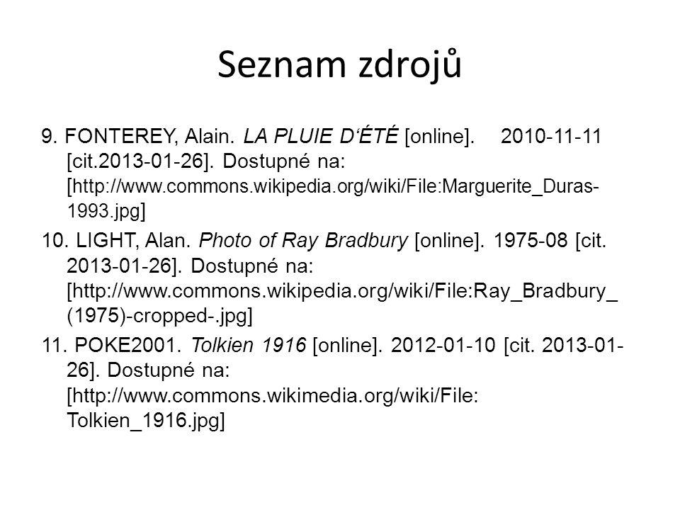 Seznam zdrojů