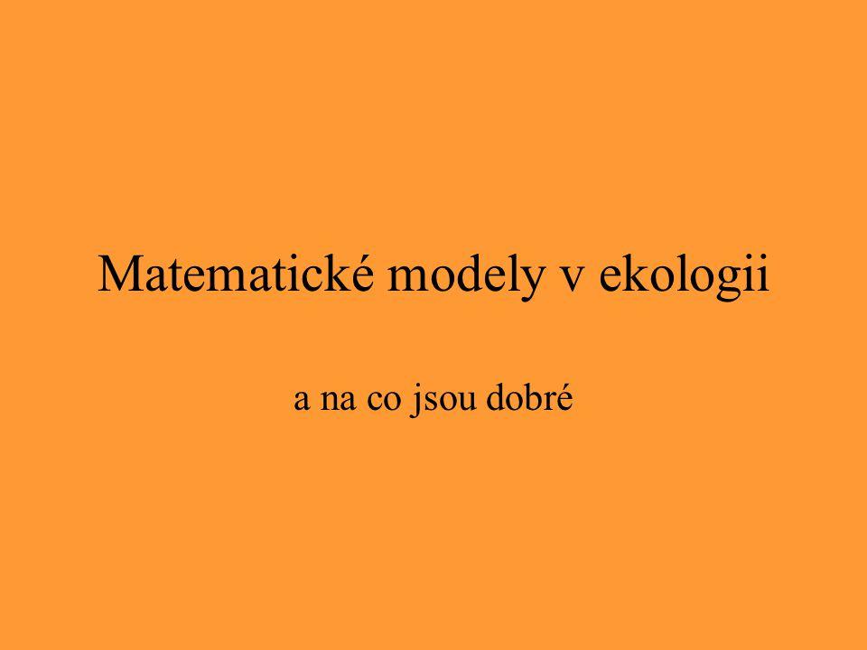 Matematické modely v ekologii