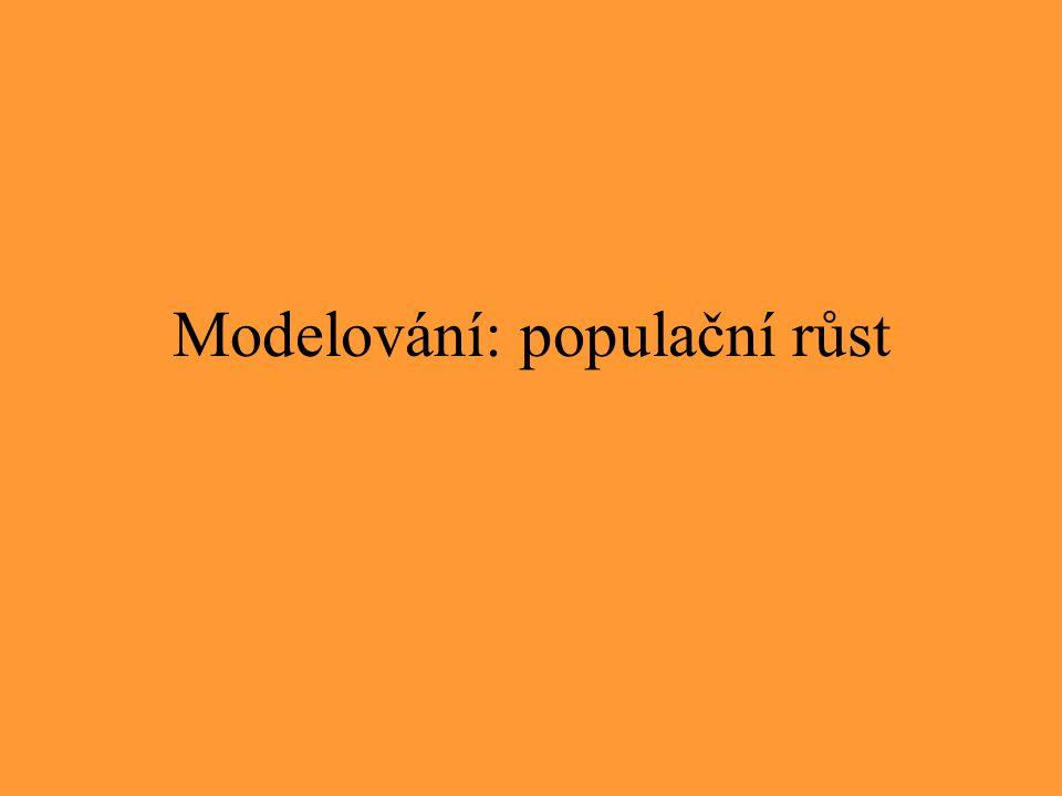 Modelování: populační růst