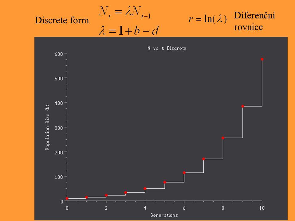 Diferenční rovnice Discrete form.