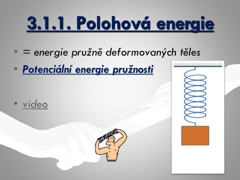3.1.1. Polohová energie = energie pružně deformovaných těles