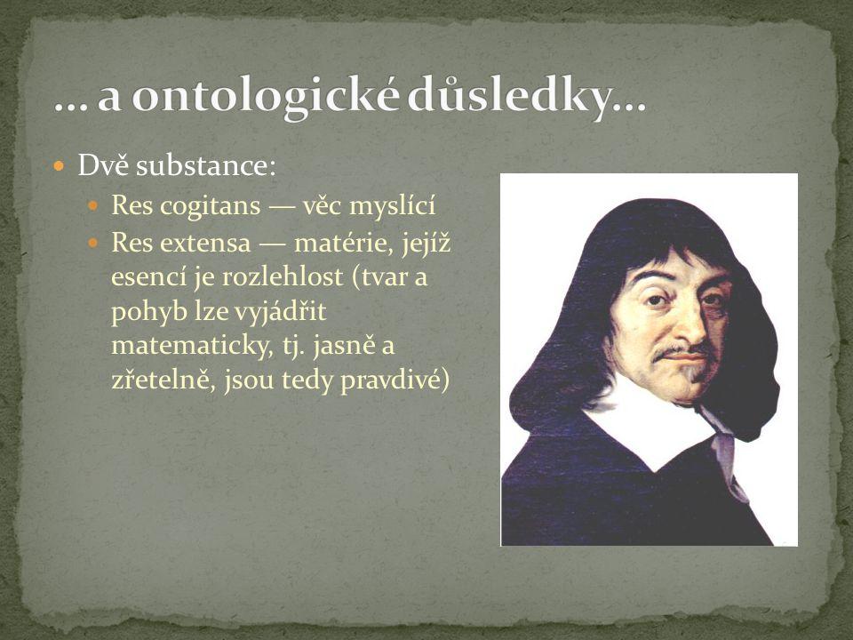 … a ontologické důsledky…