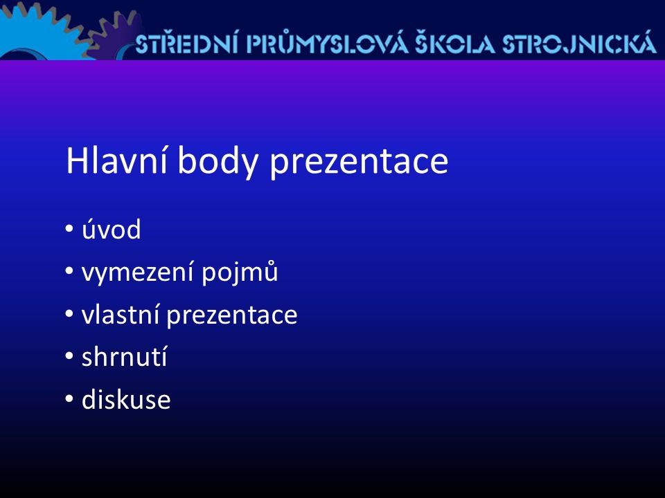 Hlavní body prezentace