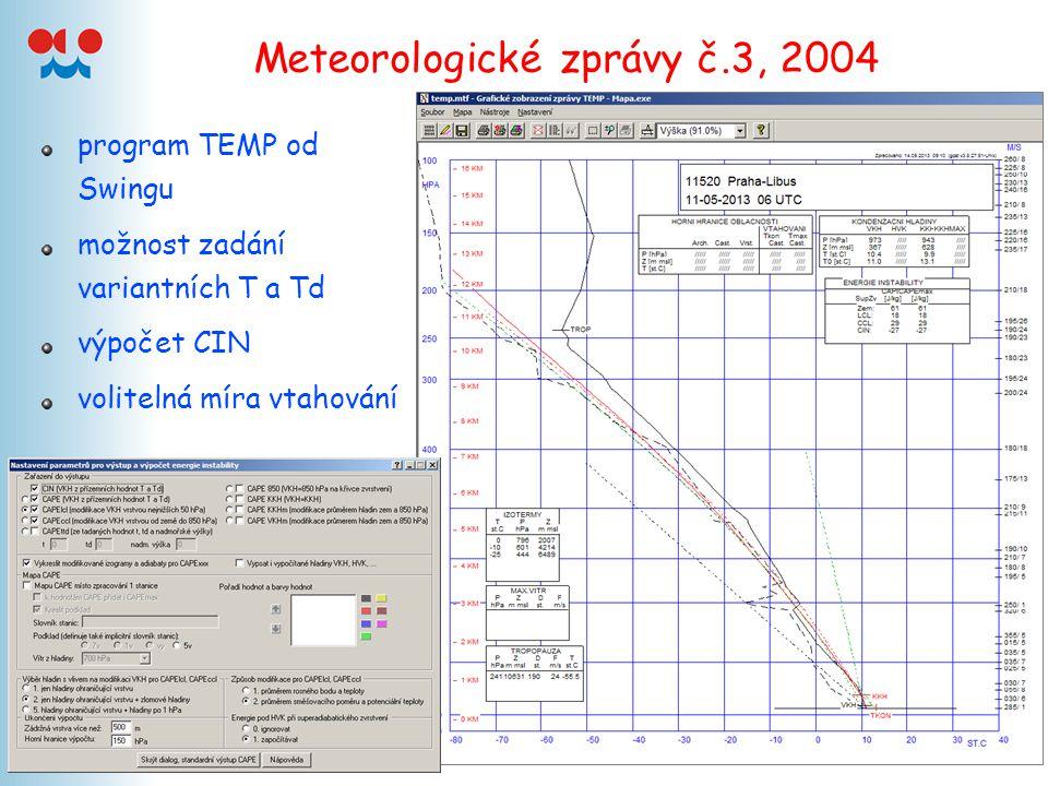 Meteorologické zprávy č.3, 2004