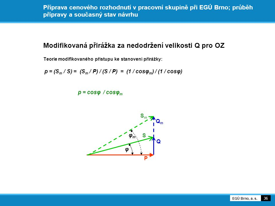 Modifikovaná přirážka za nedodržení velikosti Q pro OZ