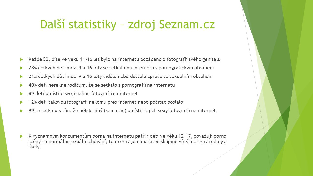 Další statistiky – zdroj Seznam.cz