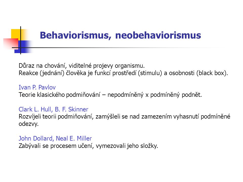 Behaviorismus, neobehaviorismus