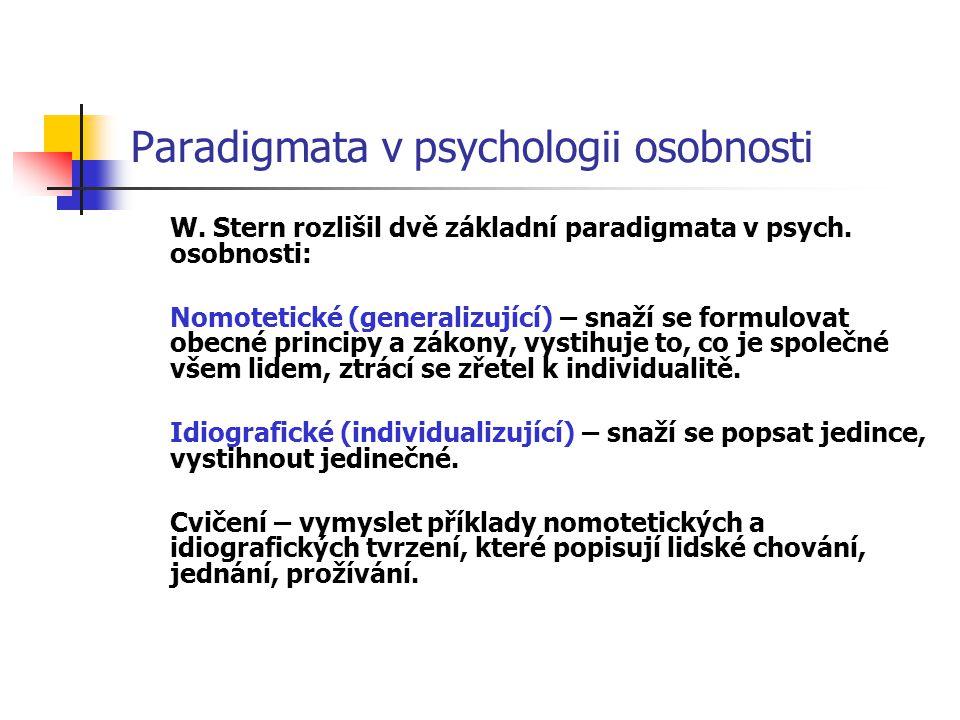 Paradigmata v psychologii osobnosti
