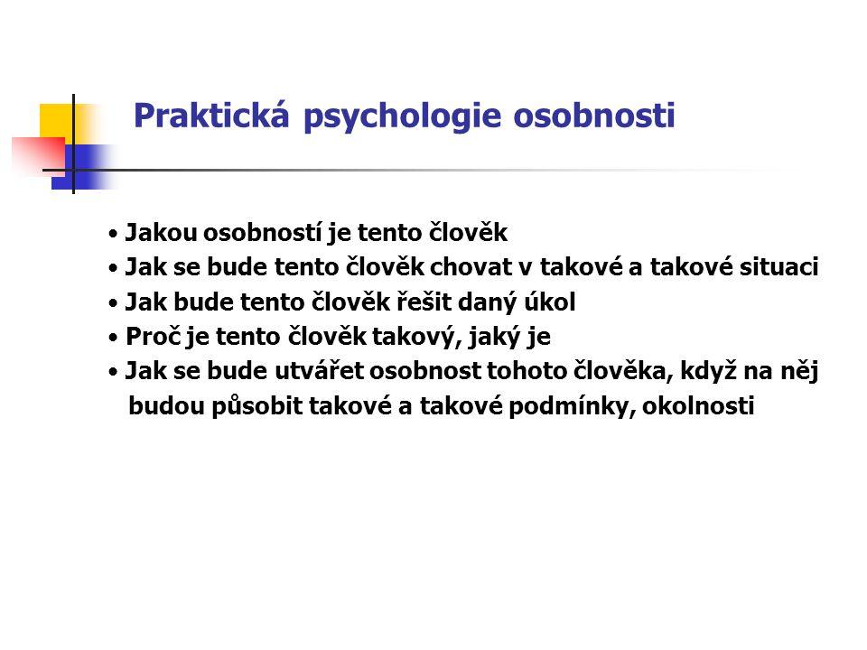 Praktická psychologie osobnosti