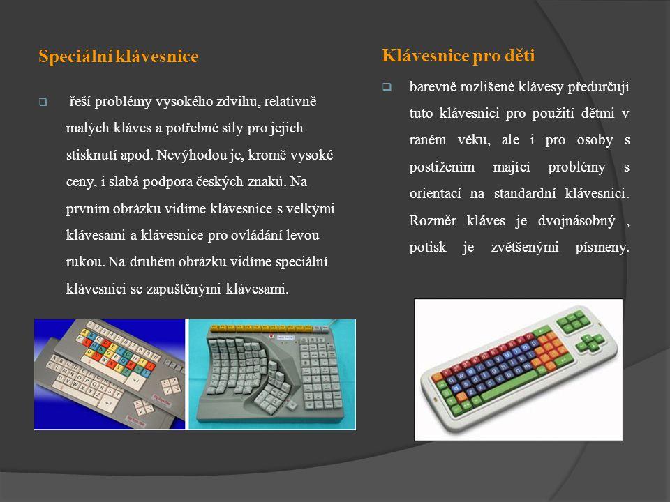 Klávesnice pro děti Speciální klávesnice