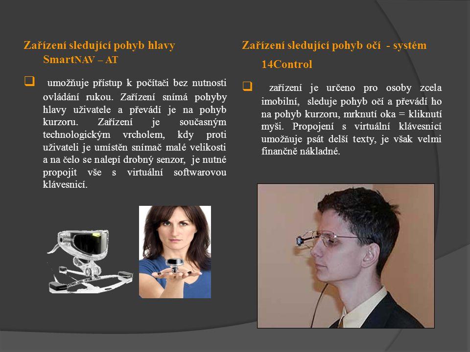 Zařízení sledující pohyb hlavy SmartNAV – AT
