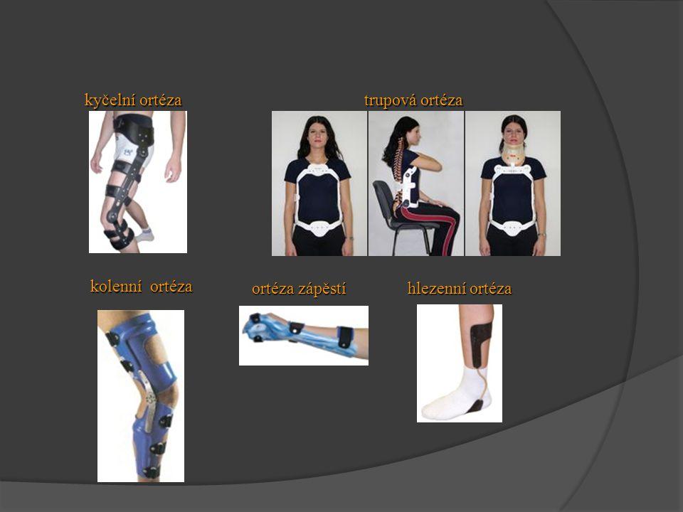 kyčelní ortéza trupová ortéza kolenní ortéza ortéza zápěstí hlezenní ortéza