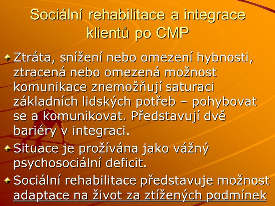 Sociální rehabilitace a integrace klientů po CMP