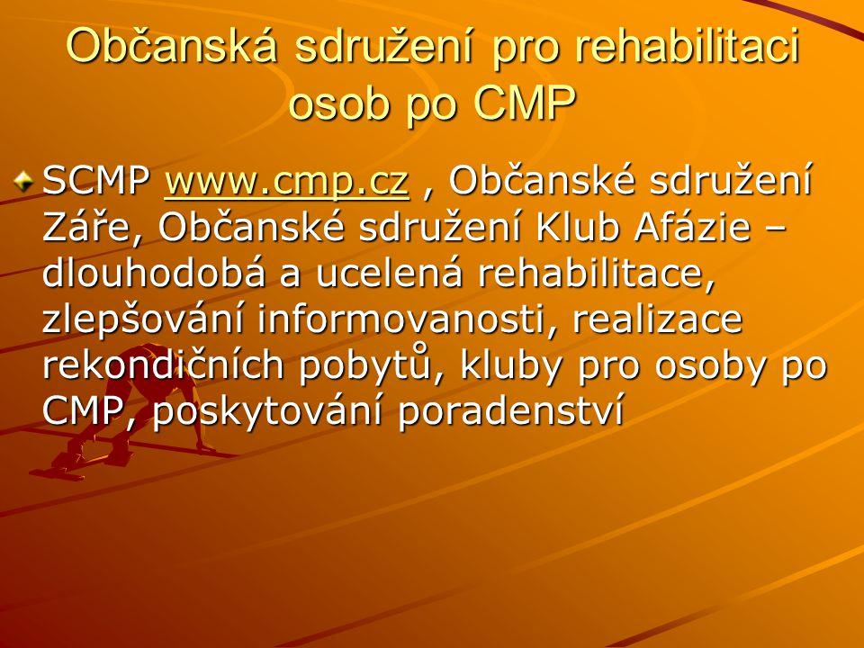 Občanská sdružení pro rehabilitaci osob po CMP