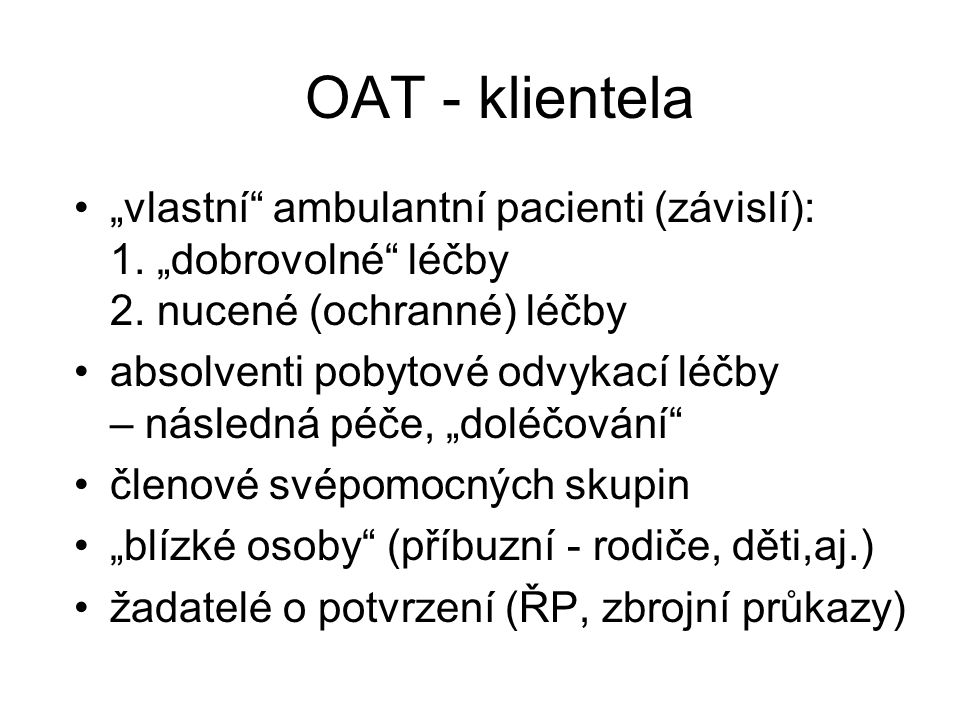 OAT - klientela