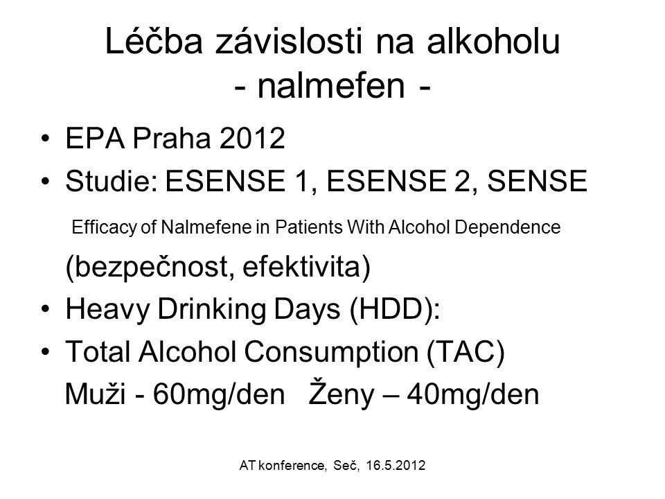 Léčba závislosti na alkoholu - nalmefen -