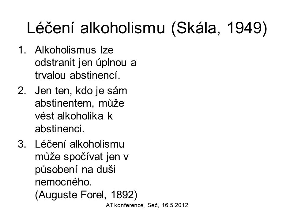 Léčení alkoholismu (Skála, 1949)