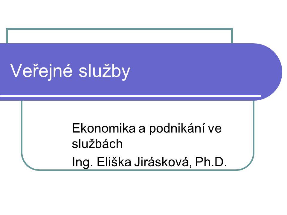 Ekonomika a podnikání ve službách Ing. Eliška Jirásková, Ph.D.
