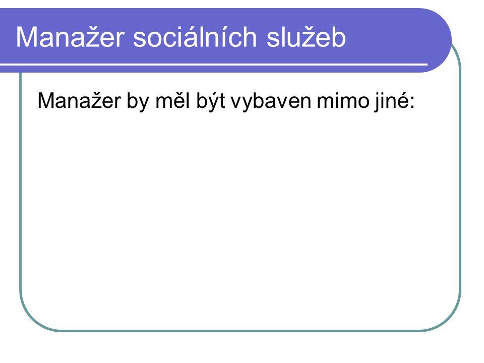 Manažer sociálních služeb
