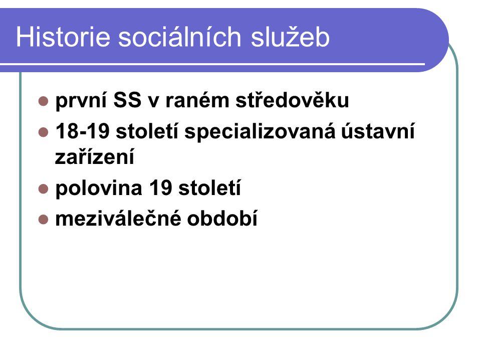 Historie sociálních služeb