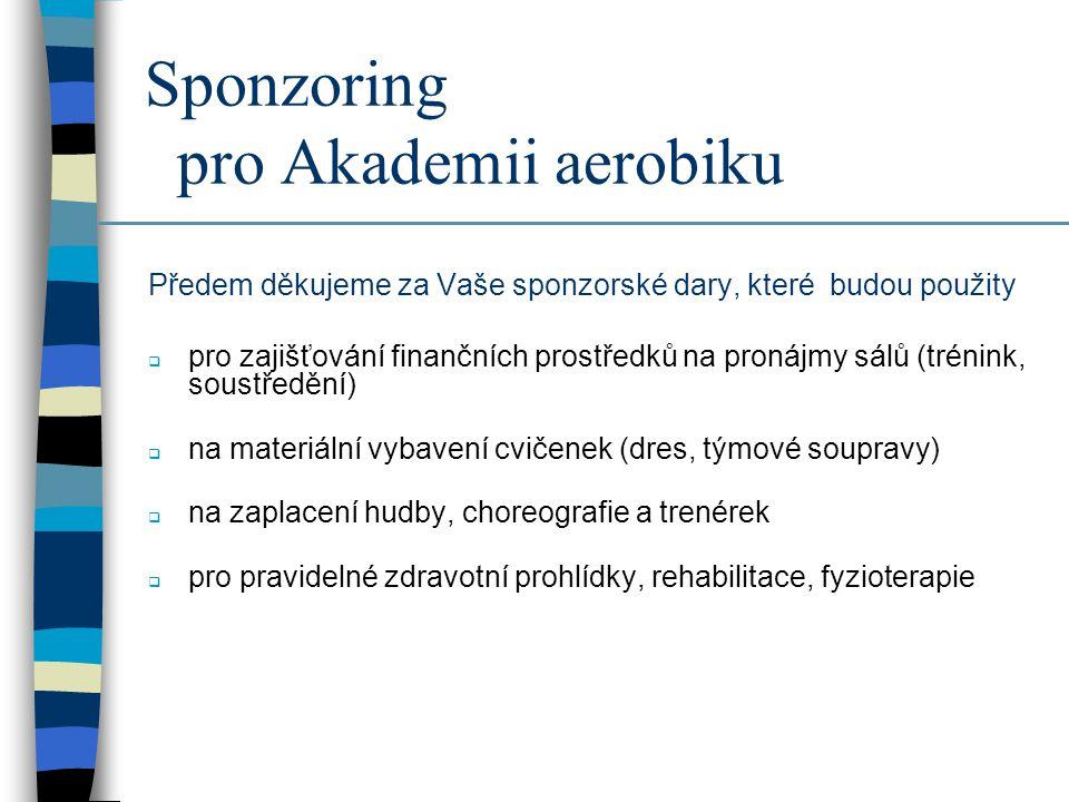Sponzoring pro Akademii aerobiku