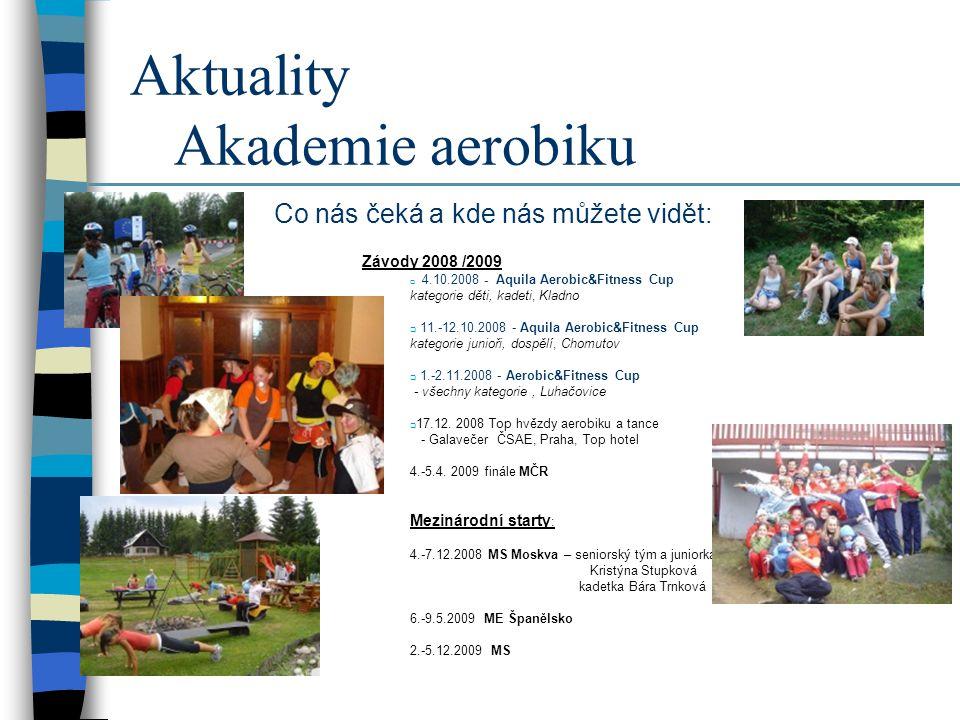 Aktuality Akademie aerobiku