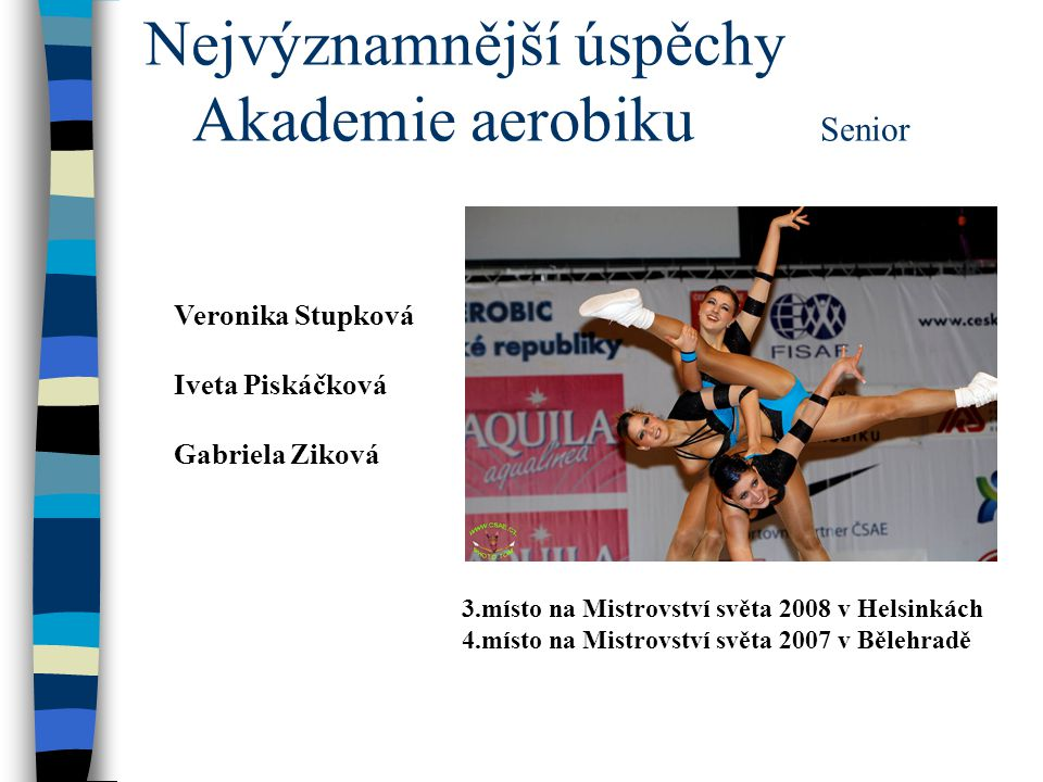 Nejvýznamnější úspěchy Akademie aerobiku Senior