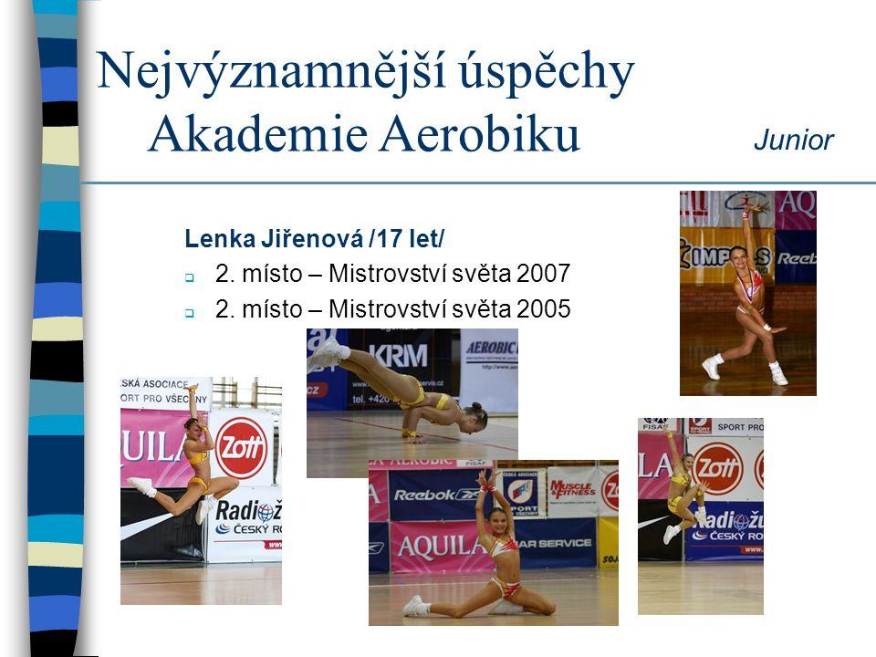 Nejvýznamnější úspěchy Akademie Aerobiku Junior