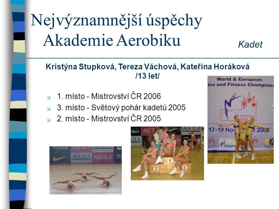 Kristýna Stupková, Tereza Váchová, Kateřina Horáková