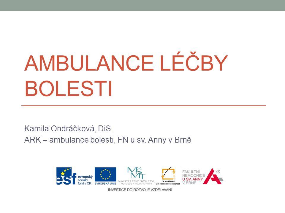 Ambulance léčby bolesti