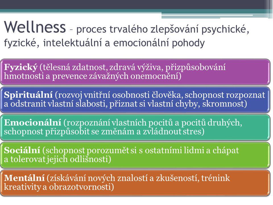 Wellness – proces trvalého zlepšování psychické, fyzické, intelektuální a emocionální pohody
