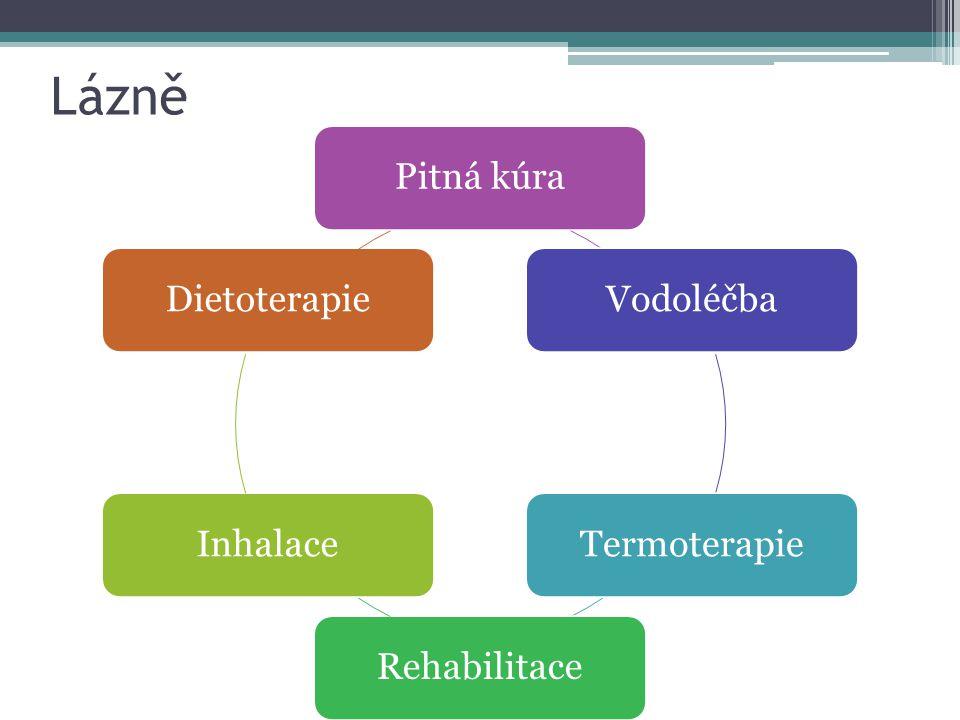 Lázně Pitná kúra Vodoléčba Termoterapie Rehabilitace Inhalace