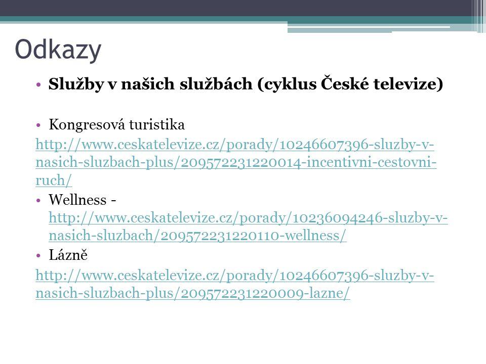 Odkazy Služby v našich službách (cyklus České televize)