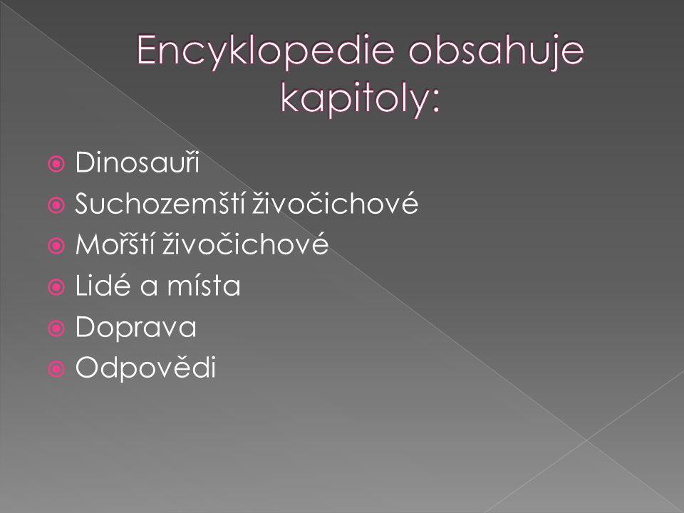 Encyklopedie obsahuje kapitoly: