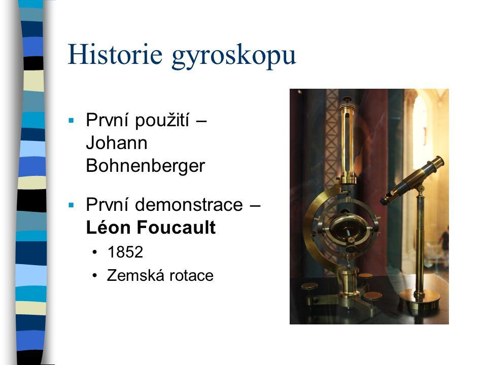 Historie gyroskopu První použití – Johann Bohnenberger