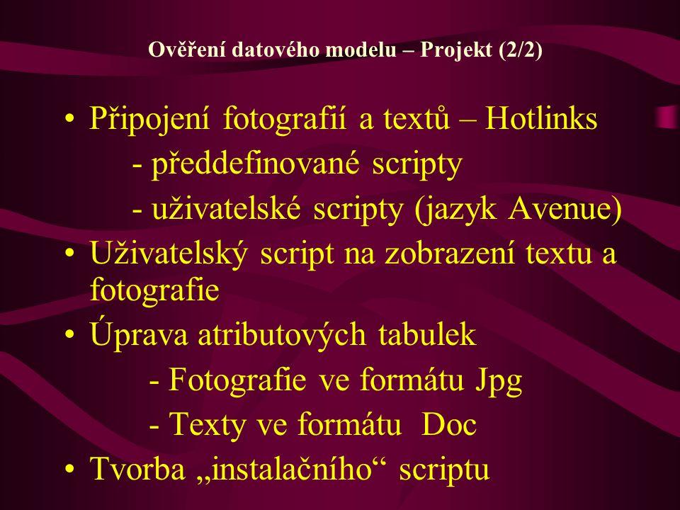 Ověření datového modelu – Projekt (2/2)