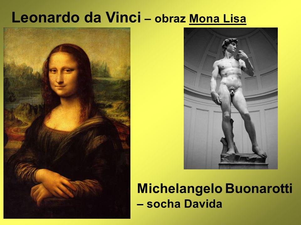 Leonardo da Vinci – obraz Mona Lisa