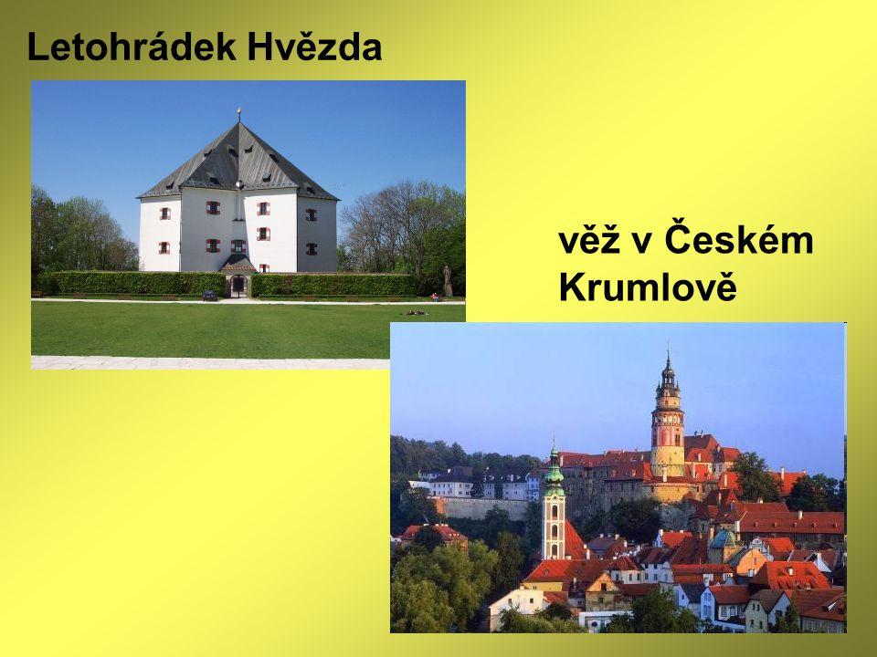 Letohrádek Hvězda věž v Českém Krumlově