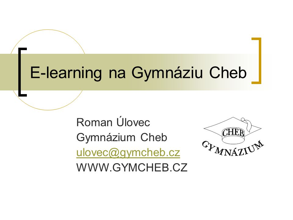 E-learning na Gymnáziu Cheb
