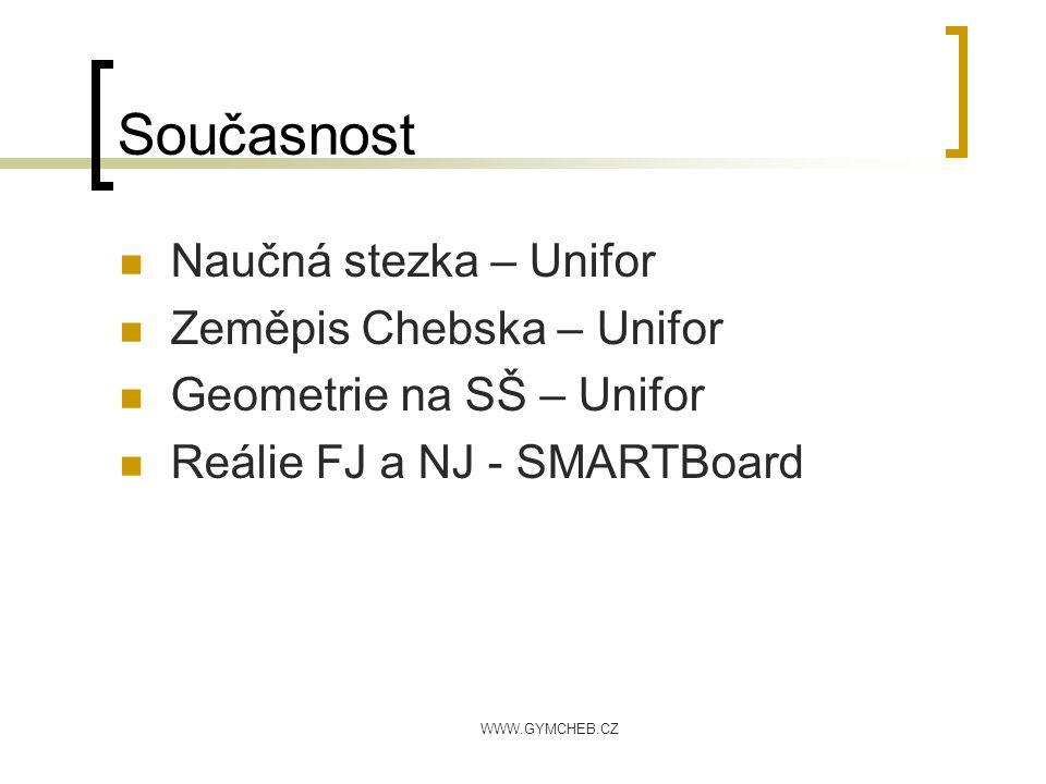 Současnost Naučná stezka – Unifor Zeměpis Chebska – Unifor