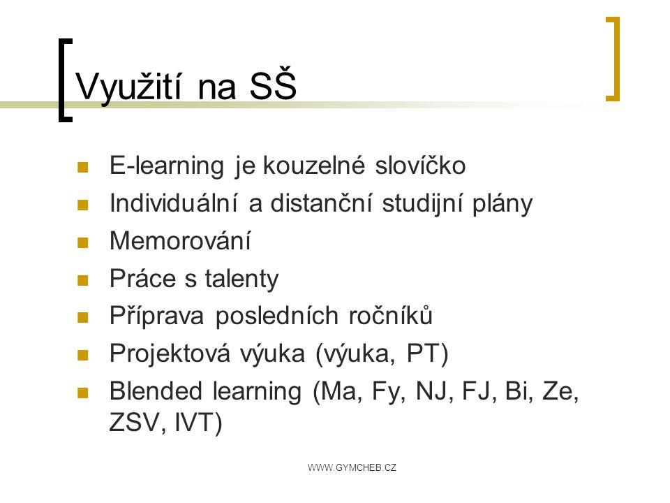 Využití na SŠ E-learning je kouzelné slovíčko