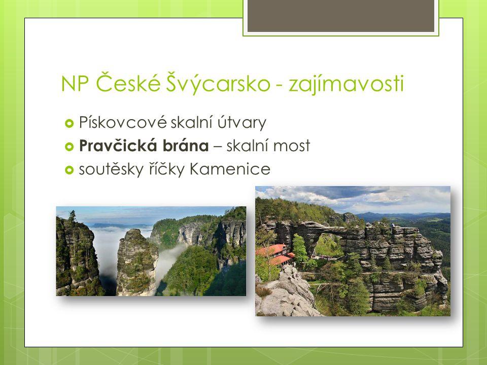 NP České Švýcarsko - zajímavosti