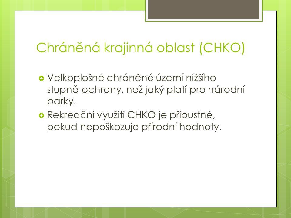 Chráněná krajinná oblast (CHKO)