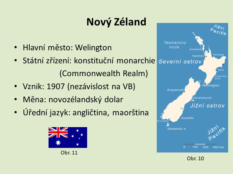Nový Zéland Hlavní město: Welington