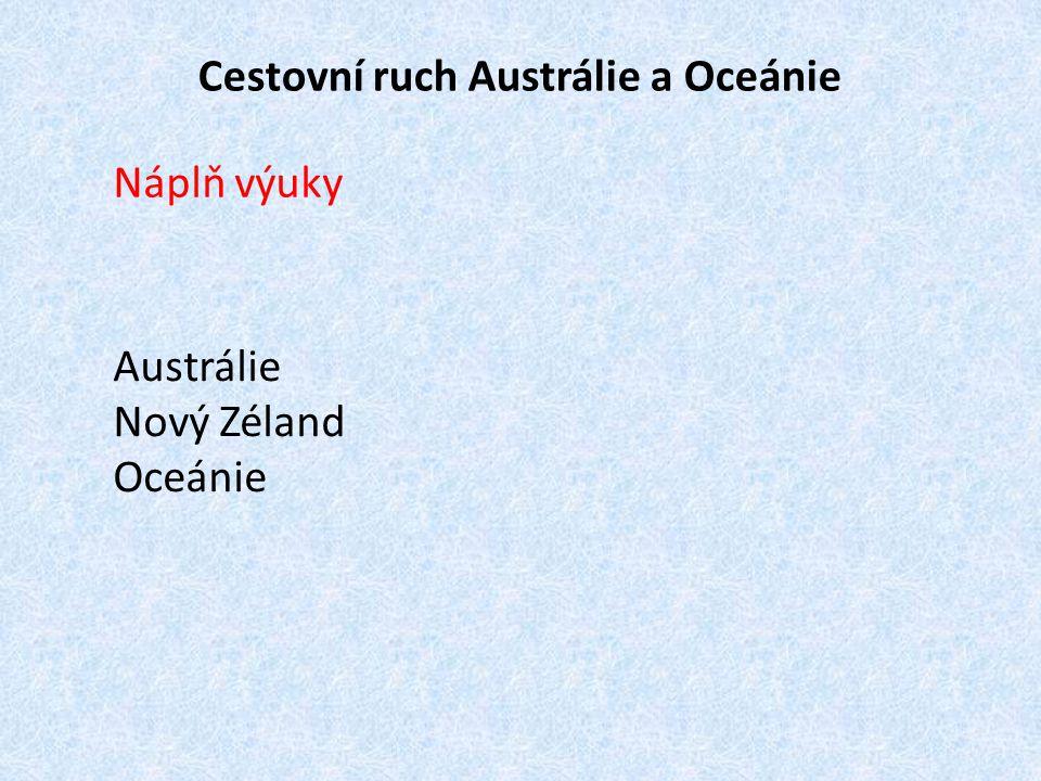 Cestovní ruch Austrálie a Oceánie